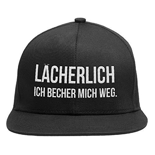 """Snapback Cap verstellbar - Baseball Kappe für Damen und Herren \""""LÄCHERLICH - ICH BECHER MICH WEG\"""" THEGOODVIBES - Für einen lässigen Urban Look"""