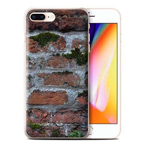 Stuff4 Hülle / Case für Apple iPhone 8 Plus / Feuerstein/Stein Muster / Mauerwerk Kollektion Moos Grün