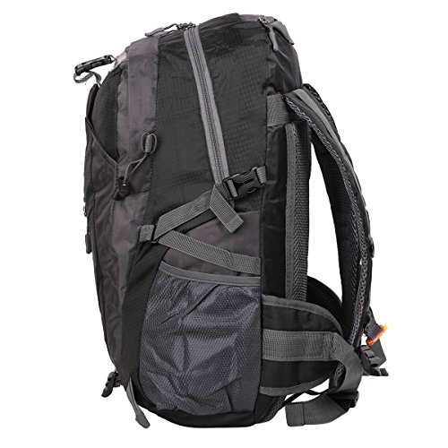 HWJIANFENG Zaini 30L Sportivi Unisex in Nylon Poliestere da Trekking Borse per Outdoor Campeggio Escursionismo Viaggi Nero