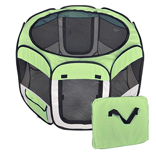 Maxi Box per taglie giganti (altezza cm 90) recinto ripieghevole e portatile per cani e gatti trasportino in poliestere impermeabile