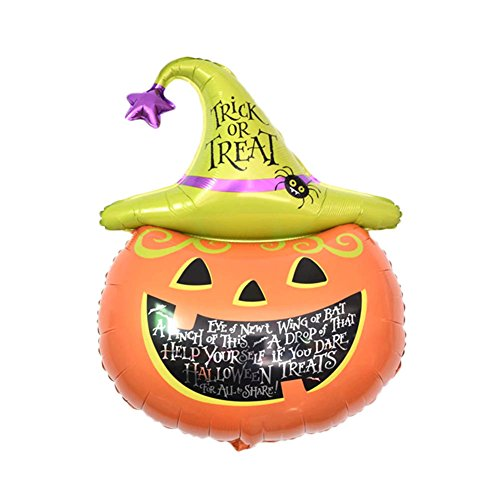 lzndeal Halloween Karikatur animali Halloween palloncino gonfiabile palla aria Halloween decorazione della carikatur 10 pezzi riutilizzabile per feste Big Pumpkin Head