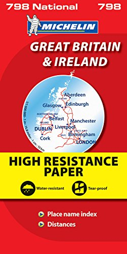 Great Britain and Ireland High Resistance (Michelin National Maps)
