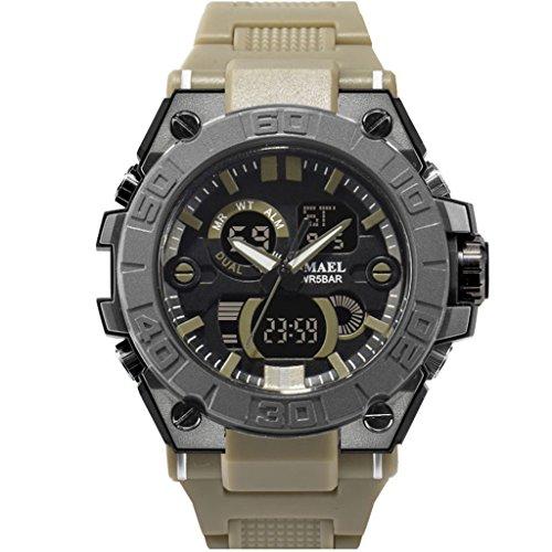 Yxx max Herren Uhren Sale Sportuhr Wasserdichte Outdoor-Sport und Freizeit Luminous Herrenuhren Multifunktionsuhren (Farbe : 4#)