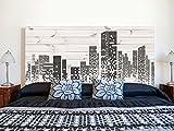 Cabecero Cama PVC Impresión Digital | Edificios Pixelados 115 x 60 cm | Cabecero Original y Económico
