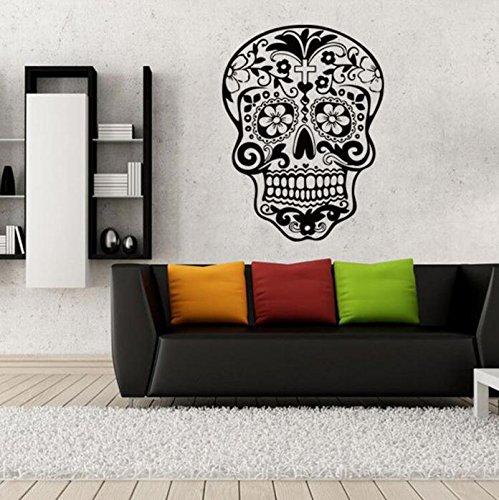 (wandaufkleber wandtattoos Ronamick Halloween Skelett Hintergrund Dekoriert Wohnzimmer Schlafzimmer Wandtattoo Sticker Wanddeko (schwarz))