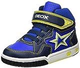Geox Jungen JR Gregg A Hohe Sneaker, Blau (Navy/Lime), 27 EU