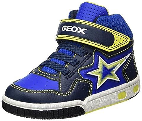 Geox Jr Gregg A, Baskets Hautes Garçon, Bleu (Navy/Lime), 32