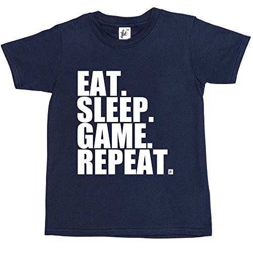 eat-sleep-game-repeat-gamer-repeat-nerd-geek-kids-boys-girls-t-shirt-size-9-11-year-old-colour-navy-