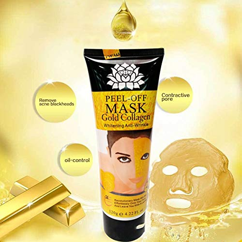 Portable Unisex 24K Gold Collagen Peel Off Mask Anti Aging Whitening Face Mask Oil Controll Whitening Skin Care
