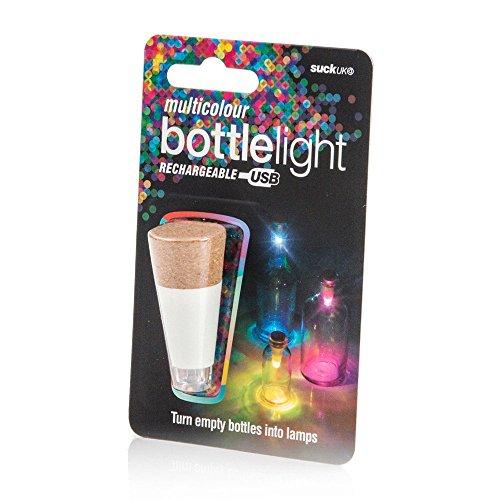 hargeable USB LED Bottle Light / Aufladbares USB LED Flaschen-Licht – wiederverwendbare / Dekoration für Heim und Garten - Mehrfarbig ()