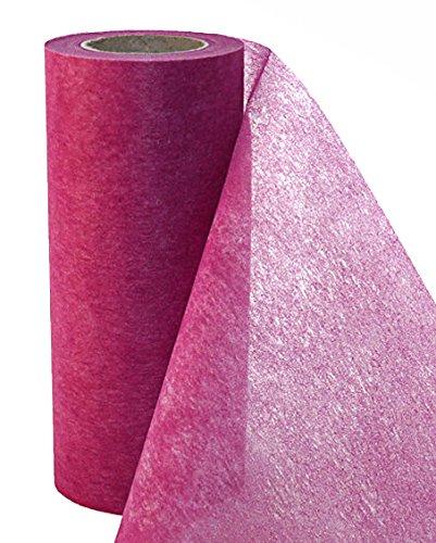 Tischband Tischvlies Tischläufer Tischdeko 20m lang 30cm breit BROMBEER (rot-violet)