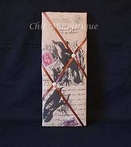 Carte postale joli Style shabby chic Motif oiseaux rembourré Lettre Tableau mémo