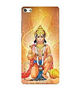 Fiobs Espically designed for hanuman lovers Designer Back Case Cover for Gionee Elife S7