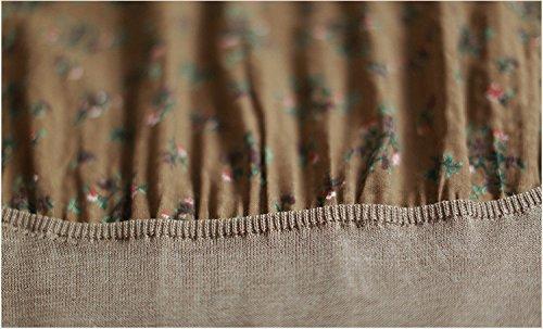 mosaik blumigen rock ärmel strickjacke kleid sieben khaki.