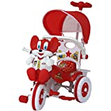 Amardeep and Co Baby Tricycle 1-3 yrs W/Shade and Parental Control, Red