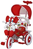 #1: Amardeep and Co Baby Tricycle 1-3 yrs W/Shade and Parental Control, Red