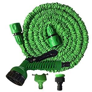 Rengzun Flexible Manguera de Jardín con Interfaz de Aluminio Extensible 7.5-45M Manguera con 7 Modos Profesionales para…