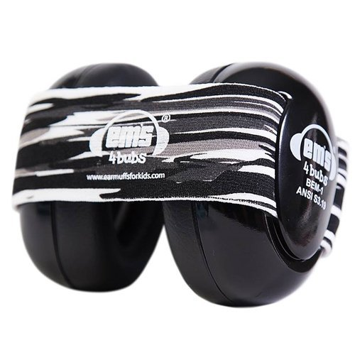 Preisvergleich Produktbild Em's 4 Bubs Gehörschutz für Babys, 0-18 Black Oyster Pearl