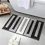 GLP Fußmatte Antirutsche Teppich für Eingang/Living/Bed/Bad Zimmer Faser absorbierende schnell trocknende Teppich Schmutzfester Fuß/Bodenmatte (Color : D, Size : 50 * 80cm)