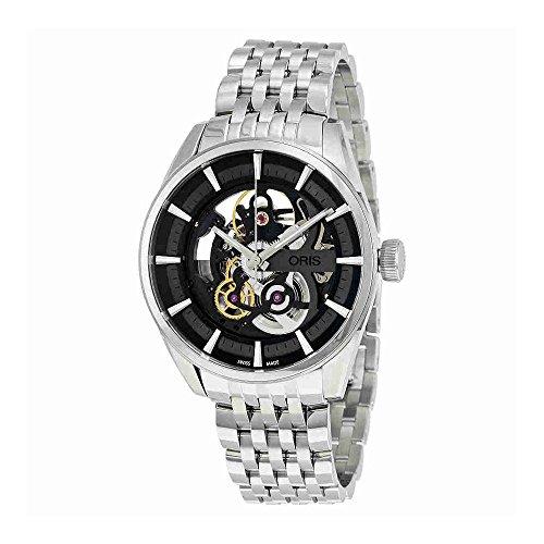 Oris Artix quadrante nero in acciaio INOX orologio da uomo 73477144054Mbxg (Ceritifed ricondizionato)