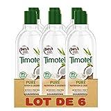 Timotei Shampooing Femme Nourrissant, Pure Nutrition & Légèreté, Lait de Coco & Aloe Vera, Pour Cheveux Normaux et Secs (Lot de 6x300ml)