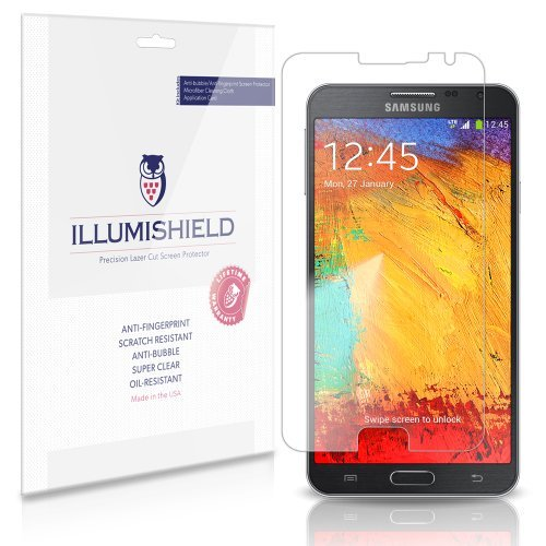 iLLumiShield – Samsung Galaxy Note 3 Neo Screen Protector Japanese Ultra Clear HD Film with Anti-Bubble and Anti-Fingerprint – High Quality (Invisible) LCD Shield – Lifetime Replacement Warranty – [3-Pack] OEM / Retail Packaging