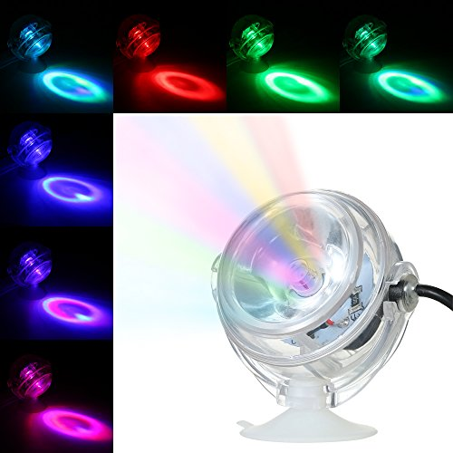 Transparent Convex Light (Decdeal Aquarium LED Spotlicht Unterwasserleuchte Dekorative Aquarium Lampe Wasserdicht, 360-Grad Drehbar)