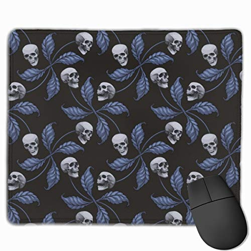 Denim Cherry Skull Collection Cherry Skull - Rock 'n' Roll Old School Tattoo Print_66240 Mouse pad Custom Gaming Mousepad Nonslip Rubber Backing 9.8