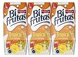 Bifrutas Tropical refresco con Leche y Zumo de Frutas - Pack de 3 x 33 cl - Total: 990 ml