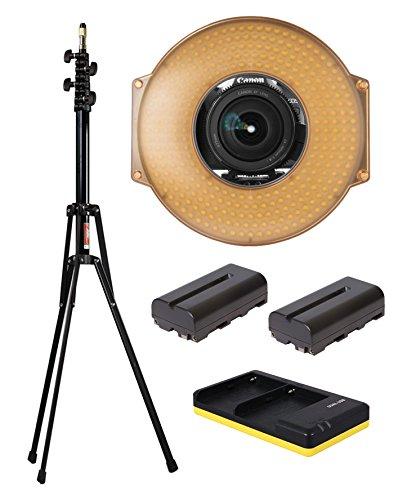 fv-hdr-300-travel-set-led-ring-light-nomis-light-stand-2x-np-f550-batteries-usb-dual-charger-travel