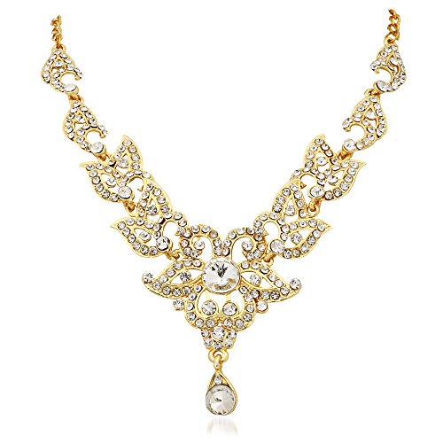 Apara Gold Plated Necklace Set with Austrian Diamond For Women/ Girls