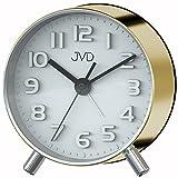 JVD SRP2121.2 Wecker Quarz analog golden leise ohne Ticken