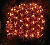 Spetebo Lichternetz 100 LED warmweiß - Batterie betrieben + Timer Funktion - Deko Lichterkette Netz Außen