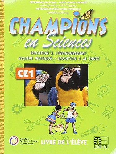 Champions au Tchad en Sciences Livre Eleve CE1