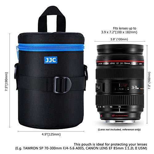 PROfoto.Trend/JJC DLP-4II Deluxe Objektiv Tasche mit Umhängeband, Wasserabweisend, Schwarz, passt Objektiv Durchmesser und Höhe unter 100 x 182mm [Siehe Beschreibung für die Kompatibilität]