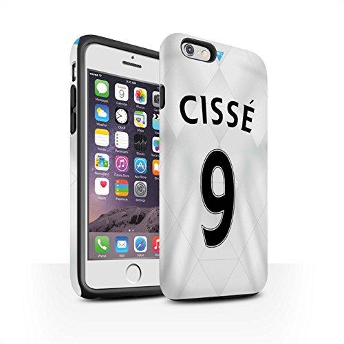 Offiziell Newcastle United FC Hülle / Matte Harten Stoßfest Case für Apple iPhone 6 / De Jong Muster / NUFC Trikot Away 15/16 Kollektion Cissé
