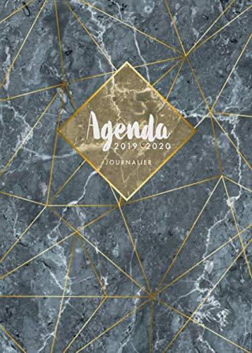 Agenda 2019 2020 Journalier: Agenda 18 mois journalier 2019-20 - format A5 - juillet 2019 à décembre 2020 - planificateur hebdomadaire - semainier par  Papeterie Collectif