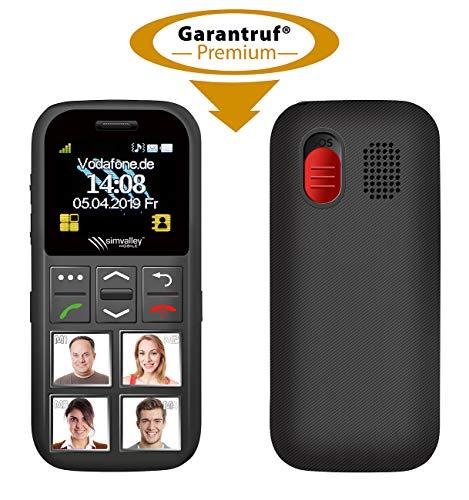 simvalley MOBILE Senioren Telefon: Senioren-Handy, Garantruf Premium,