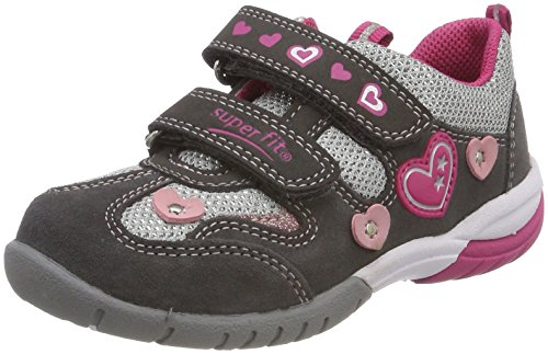Superfit Mädchen SPORT3 Sneaker, Grau (Stone Kombi), 26 EU