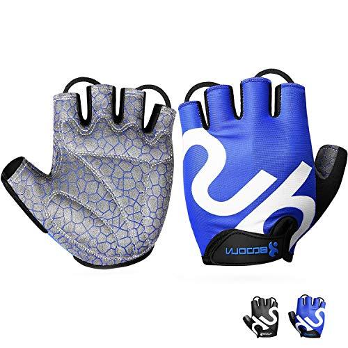 Neusky Fahrradhandschuhe für Männer & Frauen,Radsporthandschuhe Mountainbike Handschuhe Trainingshandschuhe für Dame und Herren,Ideal Fingerlos Handschuhe für Rennrad,MTB,Fitness und Sport (Blau,XXL)