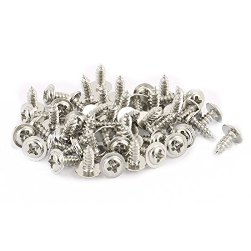 sourcingmap-50pcs-3x8-stainless-steel-phillips-head-self-tapping-screw-with-shoulder-washer