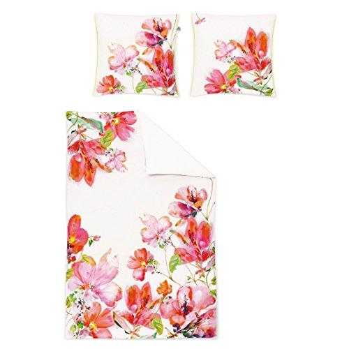 Irisette Bettwäsche Flowers 155x220cm - (8872-90 JUWEL-K 155/220CM) - Satin-paspel