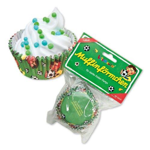 40 Muffinförmchen * Fussball - Fritz Flanke * vom Lutz Mauder // 11153 // Geburtstag Kinder Kindergeburtstag Party Kinderparty Muffin Förmchen Kuchen