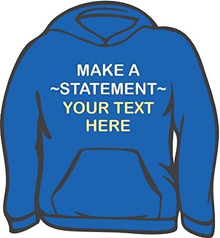 Personnalisé de qualité Sweat à capuche–Adulte XL Bleu - Bleu