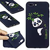 iPhone 7 Plus Black Case,iPhone 7 Plus TPU Case,COZY HUT Scratch Resistant TPU Bumper Clear Flexible Silicone Back Soft Protective Case Cover for iPhone 7 Plus,[Soft][Slim][Shock Absorption] iPhone 7 Plus Back Case,Premium iPhone 7 Plus Protector Case,Lightweight Protective Bumper Cover For iPhone 7 Plus - Panda Bamboo