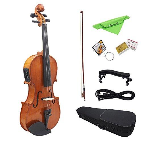 ammoon 4/4 voller Größe natürlichen akustischen Entzerrung Violine Geige Holz Fichte Volumenkörperfläche Board mit 6,35 mm 1/4