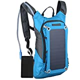 Alftek Outdoor Riding Solar Charging Backpack Solar Panel Charge Hiking Backpack