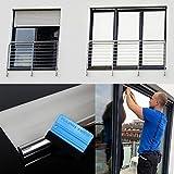 300 x 91 cm Spiegelfolie kratzfest Sonnenschutzfolie Sichtschutzfolie 99% UV-Schutz selbstklebend