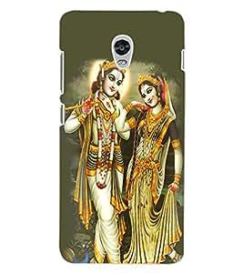 ColourCraft Lord Radha Krishan Design Back Case Cover for LENOVO VIBE P1