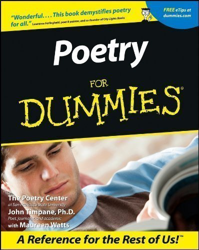 Poetry For Dummies by The Poetry Center, Timpane, John (2001)